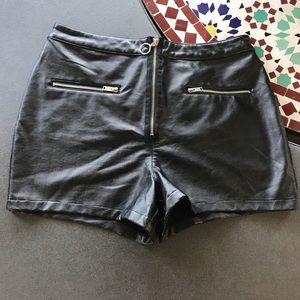 Pants - FOREVER 21 Faux Leather Shorts 1X